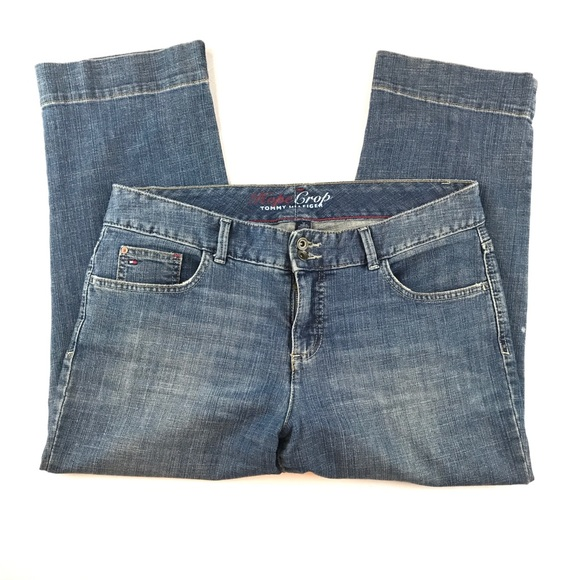 Tommy Hilfiger Womens 12 Blue Hope Cropped Jeans